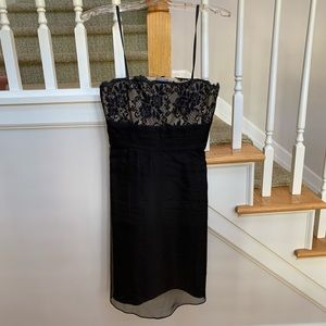 Black Cocktail Dress with lace detail